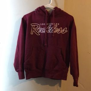 Other - Young & Reckless Maroon Red Hoodie